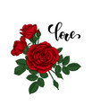 word love hand drawn creative calligraphy vector image vector image