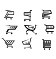 Shopping cart icons vector image