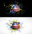 usa flag with soccer ball dash on colorful vector image