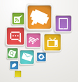 Abstract Background of boxes with media icons vector image vector image