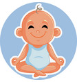 adorable basmiling and relaxing in yoga pose vector image vector image