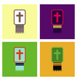 assembly flat icons bible book vector image vector image