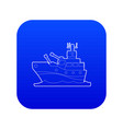 battleship icon blue