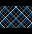 black check seamless diagonal fabric texture vector image vector image