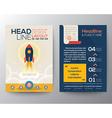 Brochure Flyer Layout start up business concept vector image