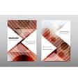 Brochure layout template flyer design vector image vector image