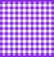 buffalo plaid proton purple tartan scottish cage vector image