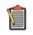 business clipboard pencil paper report document vector image vector image