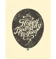 Calligraphic retro Birthday Card vector image vector image