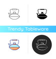 chinese iron teapot icon vector image