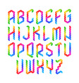 colorful geometric alphabet vector image