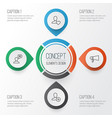 communication icons set collection of talking vector image vector image