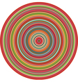 concentric pipes circular shape in multiple colors vector image
