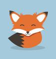 cute fox design vector image vector image
