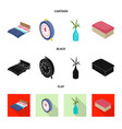 design of bedroom and room logo set of vector image vector image