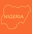 detailed nigeria map vector image vector image