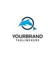 dolphin jumping circle logo design concept vector image vector image