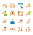 Donate And Giving Icon Set vector image vector image
