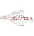 educational word cloud concept vector image vector image