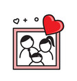 family portrait outline color icon on white vector image