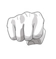 fist punch vector image