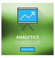 Flat design concept for analytics with blur vector image vector image