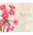floral invitation vector image vector image