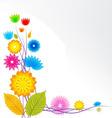 Flower background design vector image vector image