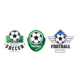 football and soccer badges or labels set vector image vector image