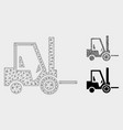 fork lift truck mesh carcass model and vector image vector image