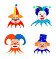 funny cute clown vector image
