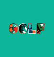 golf concept word art vector image vector image