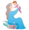 grandmother and baby vector image vector image