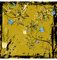 grunge background with leafs and flowers vector image vector image