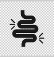 gut constipation icon in transparent style vector image