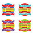 Hamburger Label Set vector image