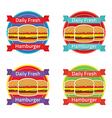 Hamburger Label Set vector image vector image