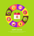 happy easter concept vector image