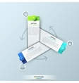 Infographic design template with 3 rectangular vector image vector image