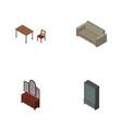 isometric furniture set of drawer sideboard vector image vector image