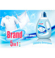 laundry detergent ad design template plastic vector image vector image