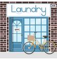 laundry service facade vector image