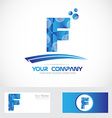Letter F blue logo icon vector image vector image