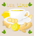 logo for white ceramic cup tea vector image vector image