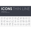 Marine Animals Thin Line Icons vector image vector image