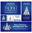 merry christmas and happy new year 2021 banners vector image
