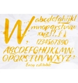 Modern alphabet orange color vector image vector image