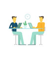 office two people team business people talking sit vector image vector image