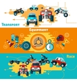 Offroad Banners Set vector image vector image