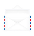 Opened envelope with paper vector image vector image